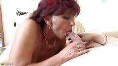 Mature sex bombs moms seduce young boys