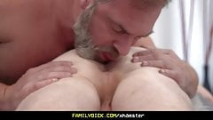Athletic Stepson Cums In His Stepdad