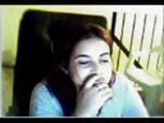 Arab girl small boobs Arab girl on webcam with big boobs 1