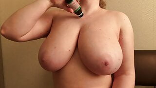 Teen Titty Fucked in Her Parent's Kitchen
