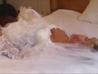 Wedding tgp porn - Black guy breeding white wife on her wedding day porn