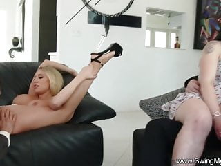 Amateur swinger wife sex videos - Big tit blonde swinger wife drilled a deep sex session