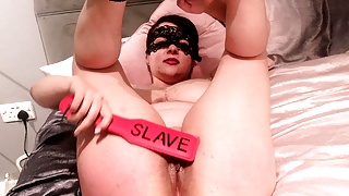 Paddle and Ruler Spanking for slut Slaves big ass and pussy