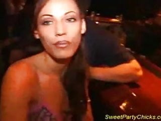 Party chick sexy Sweet party chick gets fucked