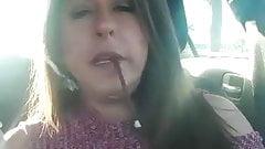 Milf Smoking More 120 in the car