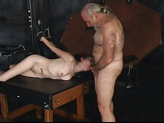 Greatest dog cock sucker Master len restrains a gorgeous young brunette cock sucker and fucks her