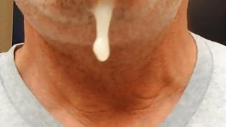 Mexican Cum Load Hanging From My Chin