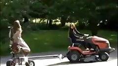 Lawnmower in Driveway