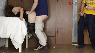 Husband Watches Best Friend Fuck Young Wife - Cuckold SanyAny