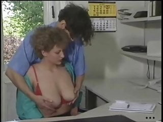 Femdom romance Romance with milf secretary in stockings at the office