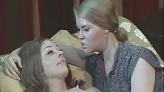 Busty Lesbian Girls Climaxing on Bed (1960s Vintage)