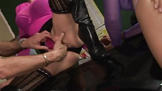 Cindy Behr and Kaia Kane get down and dirty with two men