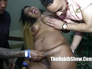 Gang baning sluts - Thick dominican freak baned out by donny sins and macana man