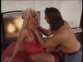 Tit on dick Beautiful blonde babe gags on dick and gets screwed by fireplace