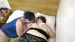 Busty BBW Mature British Lesbians Kim and Ruby