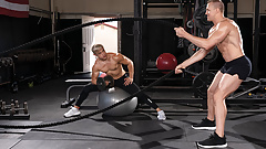 Beefy Trainer Cock Shows Student How To Take it like a Man