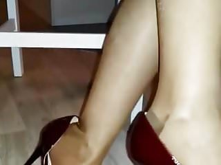 Seamed nylons cum - Seamed nylons