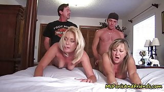 HOT Bisexual MILFs Have Great Swinger Orgies