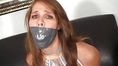Very Tightly Duct Tape Gagged Girl