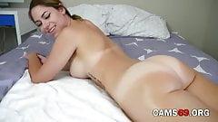 Amazing Brunette Shaking Her Huge Ass on Webcam