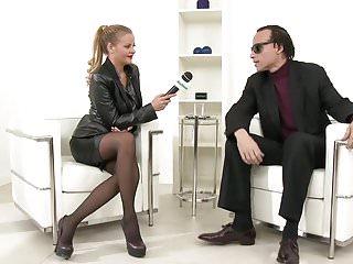 Russian latex girls Busty hottie candy alexa interviewing, sucking and fucking
