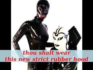 Latex fetish hood - Thou shalt wear this new rubber hood cheyenne de muriel