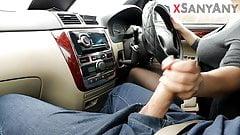 EXTREME AND RISKY HANDJOB WHILE DRIVING CAR ! SANYANY
