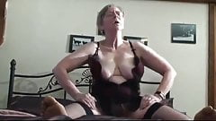 British granny kim takes BBC in her well used loose cunt