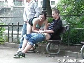City and the sex dvd - Gangbang with a cute teen in the middle of a city center p 2