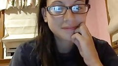 Beautiful teen with glasses