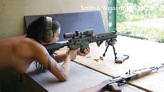 Daniela Kostic, Playboy girl with a big gun