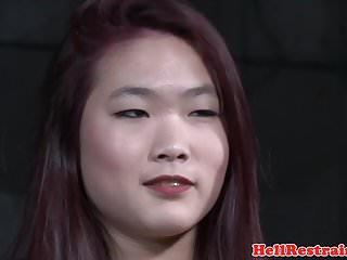 Asian japanese bondage gagged Redhead asian sub with mouth gag dominated