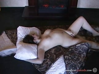 Canadian hairy trout - Big tit canadian geek stripteases then fingers hairy pussy