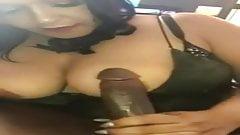 Blowjob busty amateur latina milf from DateFree.eu