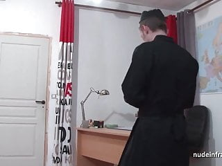The priests huge cock - Young black schoolgirl banged by a priest in classroom