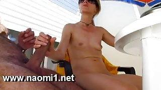 handjob on balcony by naomi1