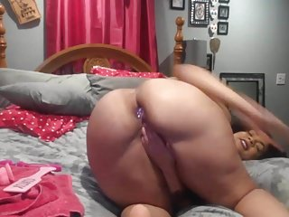 Butt plug amateurs - Sexy black girl with butt plug doggy style