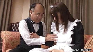 Asian sexy babe fucking and cock sucking her mouth