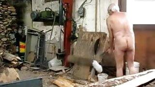 grandpa in a sawmill