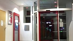 Tranny flashing at the cash machine