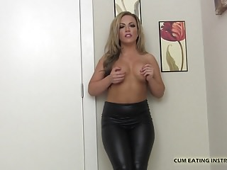 Learn to eat your own cum - I order you to eat your own cum cei