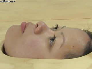 Cock trample floor box Face in the floor - foot worship and face trampling