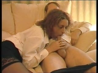 Older sluts in stockings - British slut in stockings sucks rides an older guy