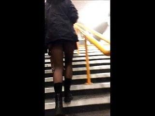 Russian teen miniskirt porn - Candid teen miniskirt upskirt panty