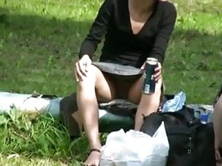 Sitting upskirts no panties - Flashing upskirts no panties hahadadada