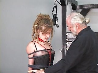 Teen hippies - Dreadlock hippie bdsm girl loves to be restrained in basement by older master