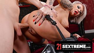Mature Deviant Blonde Enjoys A Big Cock Pussy Pounding