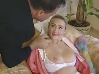 Pantyhose happings Beatiful german cleaner granny gets anal by young boss