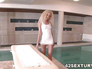 Free hungarian massage sex videos Monique woods fucks on massage table