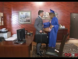 Milf lessons episode drill the teacher Teen schoolgirl gets drilled by older guy in office
